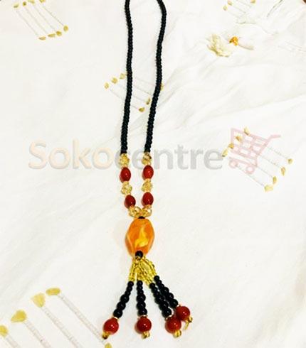 Black Beaded Pendant