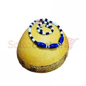 Blue & White Beaded Necklace, Bracelet and Earrings