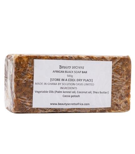 Raw Black Soap (500g)