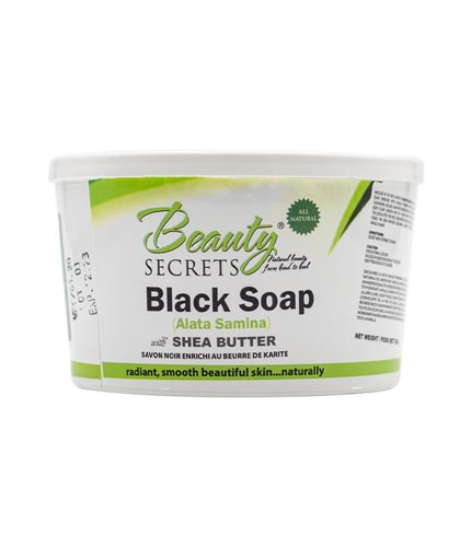 African Black Soap With Shea Butter