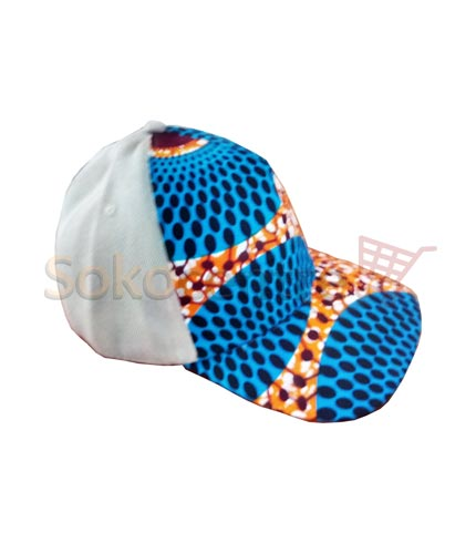 Grey Design African Print Baseball Cap