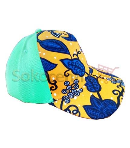Green Design African Print Baseball Cap