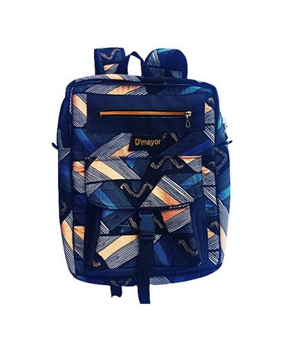 Dark Blue African Print Backpack