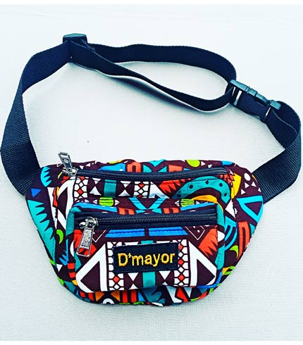 Multicoloured African Print Fanny Pack