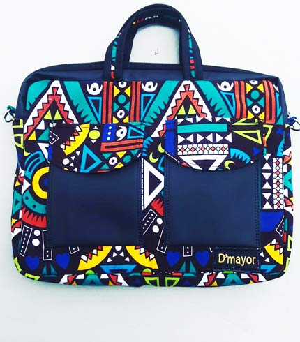 African Print Laptop Bag - Multicoloured