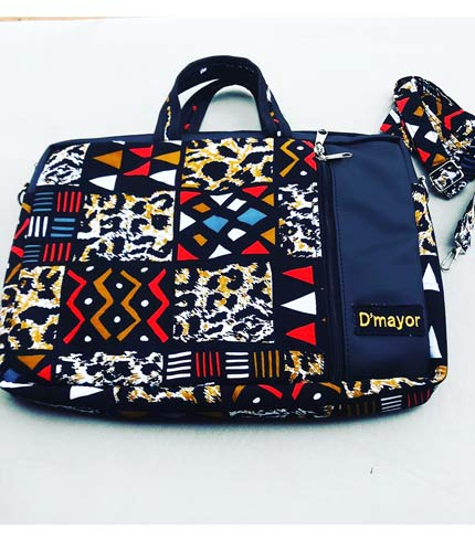 African Print Laptop Bag - Multicolored