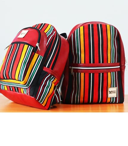 Multicoloured Smock Designed Backpack