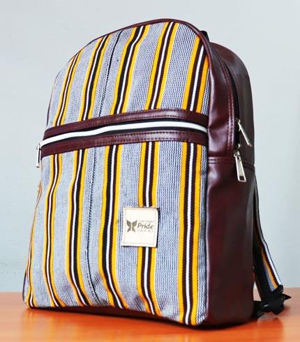 Brown Smock Designed Backpack