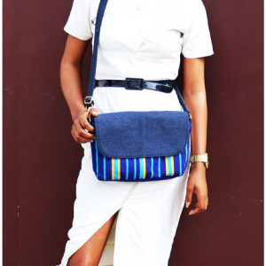 Blue Smock Designed Handbag