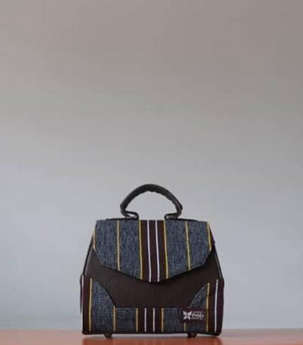 Brown & Ash Fugu Handbag