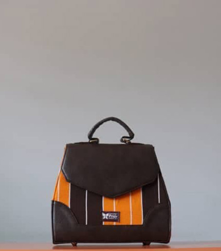 Brown & Yellow Fugu Handbag