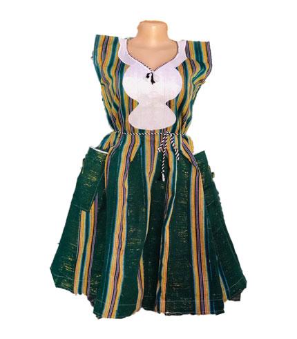 Dark Green Fugu Dress