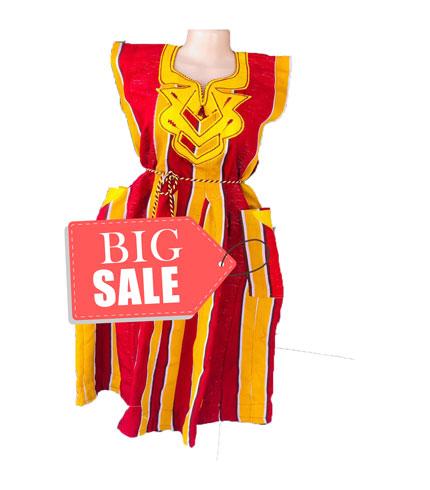 Red & Yellow Fugu Dress