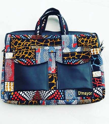 Multicoloured African Print Laptop Bag