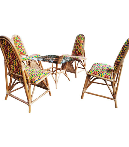 Balcony/Lounge Furniture Set - Made of Rattan and Glass