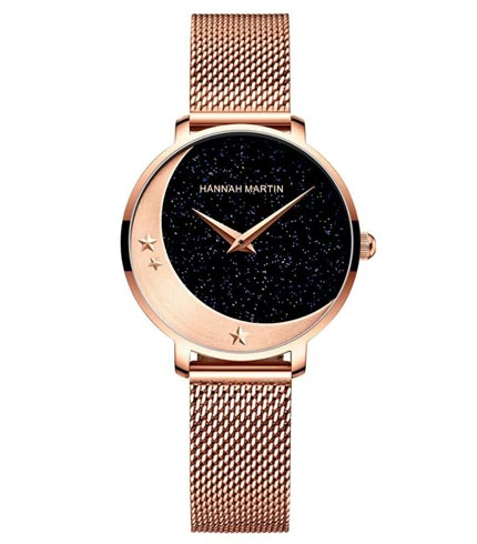 Women's Stars and Moon Quartz Watch