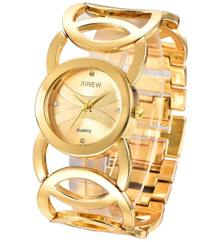 Women's Wide Bracelet Quartz Watch