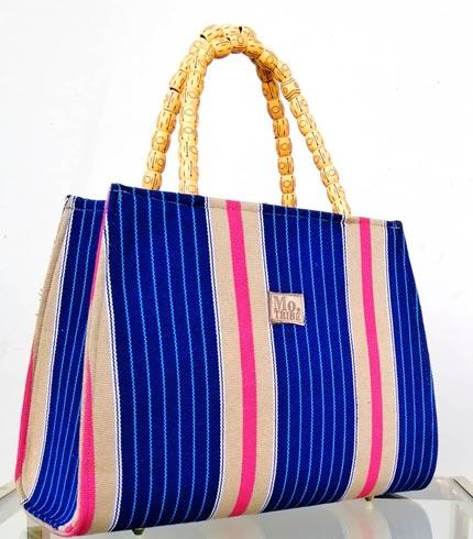 Blue & Cream Smock Design Bag