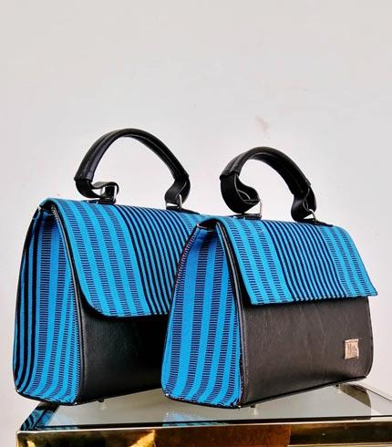 Blue Design Smock Bag