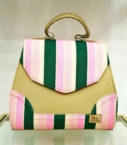 green-and-pink-smock-design-handbag