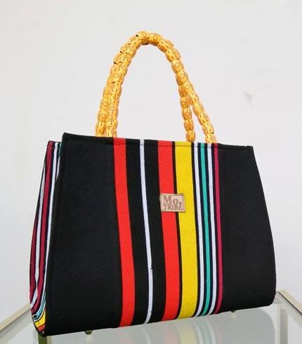 Multicolored Design Smock Bag