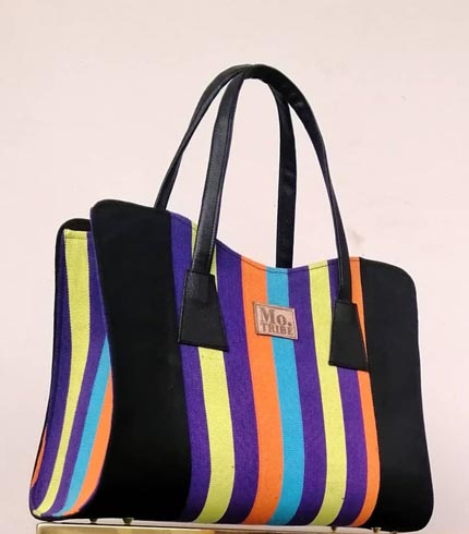 Multicolored Design Smock Handbag