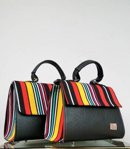 Multicoloured Design Smock Handbag