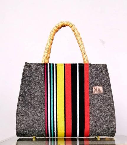 Multicoloured Smock Design Bag