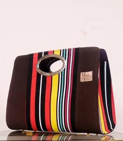 Multicoloured Smock Design Handbag
