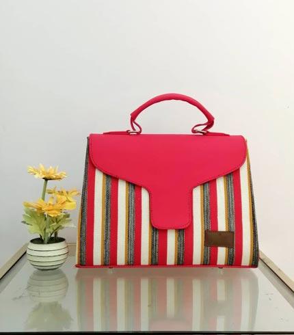 Pink Smock Design Handbag