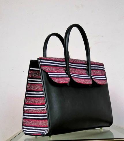 Purple Design Smock Bag