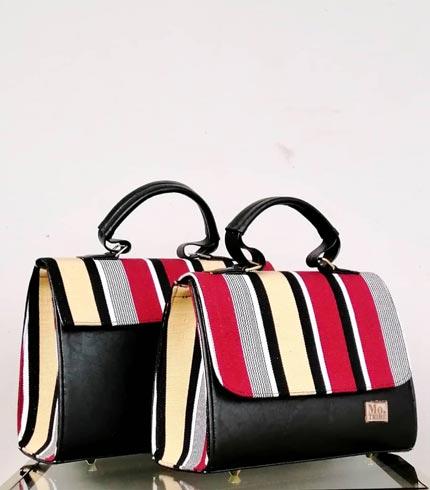 Red & Yellow Design Smock Handbag