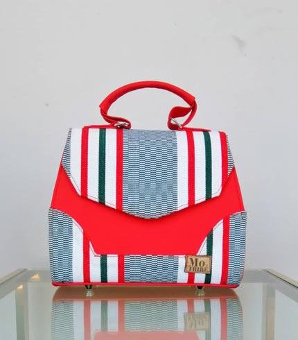 Red Design Smock Handbag