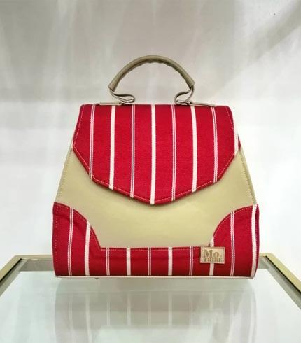 Red Smock Design Handbag