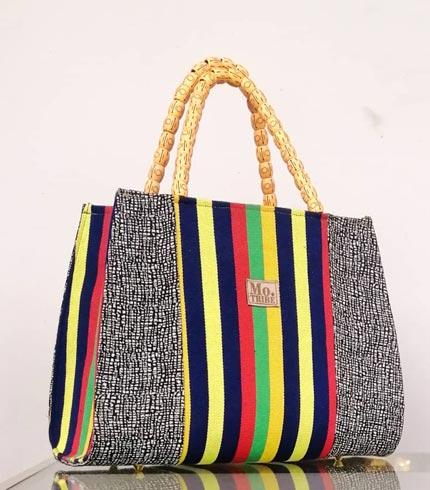 Yellow & Blue Smock Design Bag