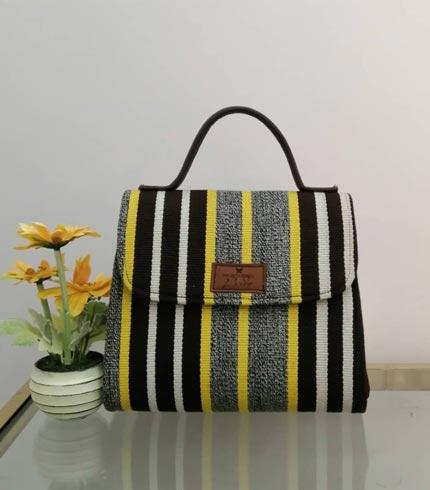 yellow-and-brown-smock-design-handbag