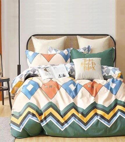 Green Design Kingsize Bedsheet Set